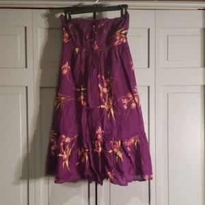 Urban Outfitters Lux floral purple dress small